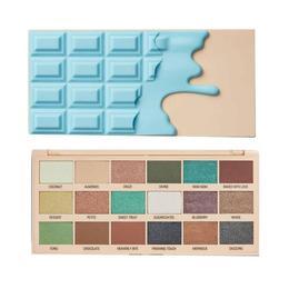 Paleta fard Makeup Revolution, I Heart Revolution, Macaroon Pigment Palette, 18 nuante, 18g de la esteto.ro