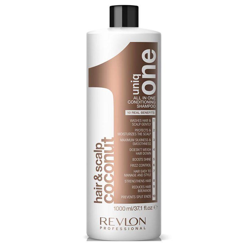 Sampon cu Nuca de Cocos - Revlon Professional Uniq One All In One Conditioning Shampoo 1000 ml