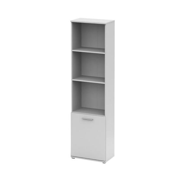 Etajera GL NOKO-SINGA 71, 181x50x29 cm, alb