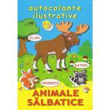 Animale salbatice. Autocolante ilustrative, editura Biblion
