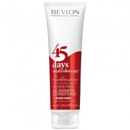2in1 Sampon si Balsam - Revlon Professional 45 Days Total Color Care Brave Reds 275 ml
