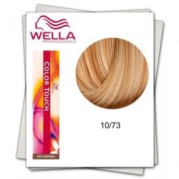 Vopsea fara Amoniac - Wella Professionals Color Touch nuanta 10/73 blond luminos deschis castaniu auriu