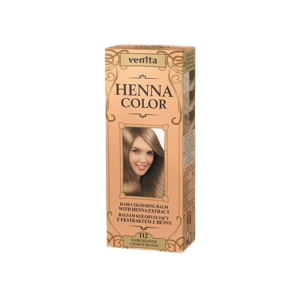 Balsam Colorant cu Extract de Henna Henna Sonia, Nr.112 Blond Inchis 75 ml imagine produs