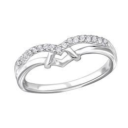 Inel din argint cu pietre de zirconiu, Adorabel, 49 EU, 5 US