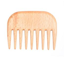 Pieptene din lemn cu dinti rari Afro Keller Burstenfabrik de la esteto.ro
