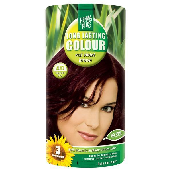 Vopsea par, Long Lasting Colour, 4.67 Red Violet Brown, Hennaplus