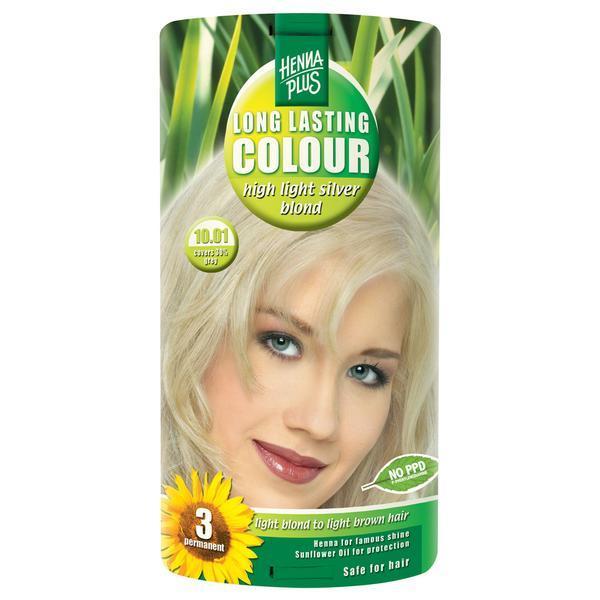 Vopsea par, Long Lasting Colour, 10.01 High Light Silver Blond, Hennaplus