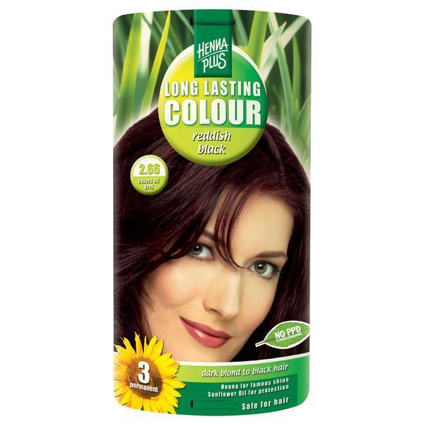 Vopsea par, Long Lasting Colour, 2.66 Reddish Black, Hennaplus