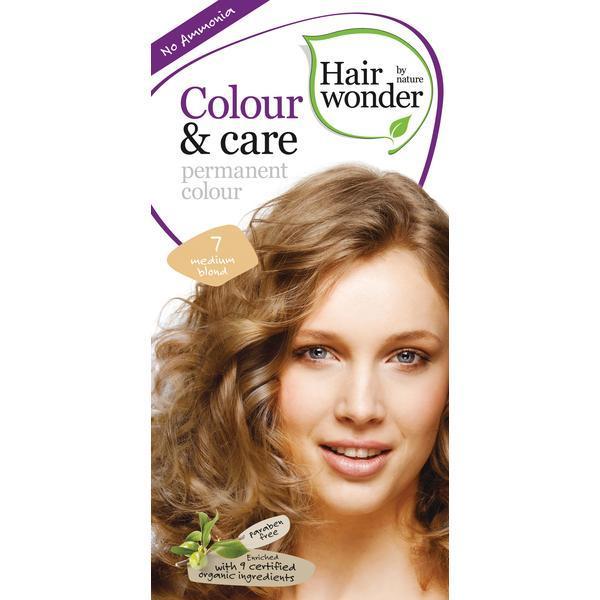 Vopsea par naturala, Colour & Care, 7 Medium Blond, Hairwonder