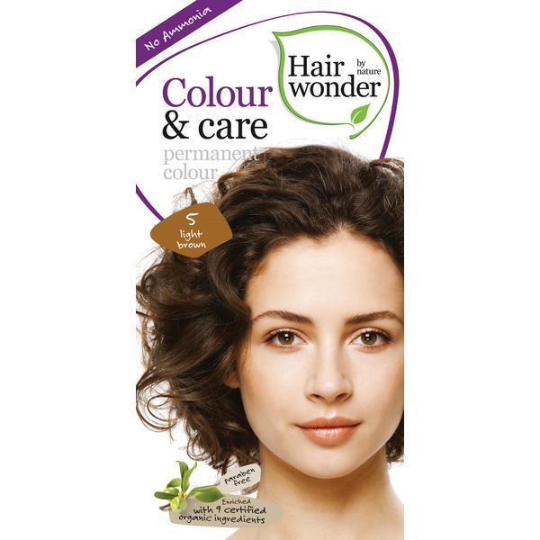 Vopsea par naturala, Colour & Care, 5 Light Brown, Hairwonder