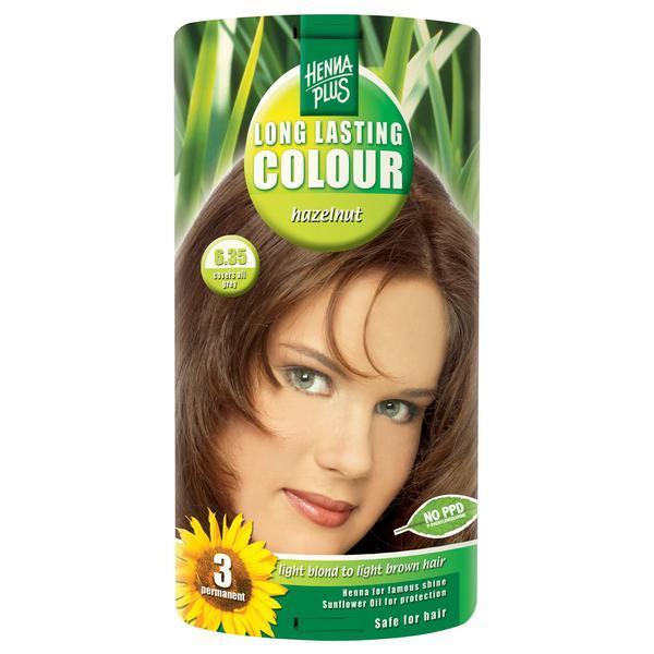 Vopsea par, Long Lasting Colour, 6.35 Hazelnut, Hennaplus