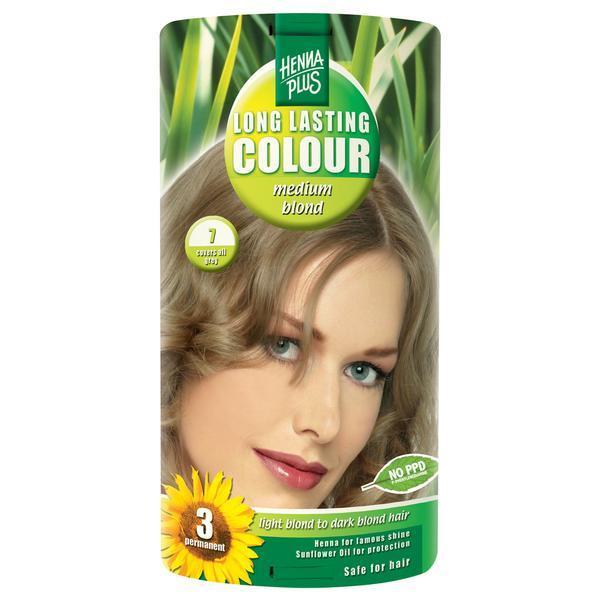 Vopsea par, Long Lasting Colour, 7 Medium Blond, Hennaplus