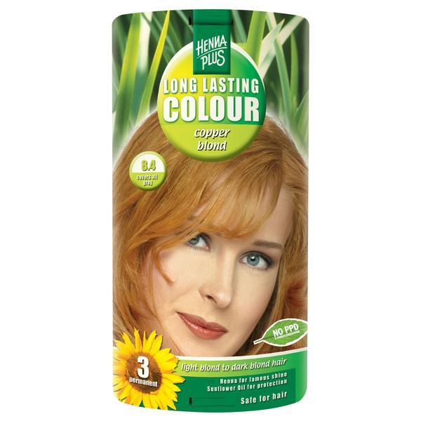 Vopsea par, Long Lasting Colour, 8.4 Copper Blond, Hennaplus