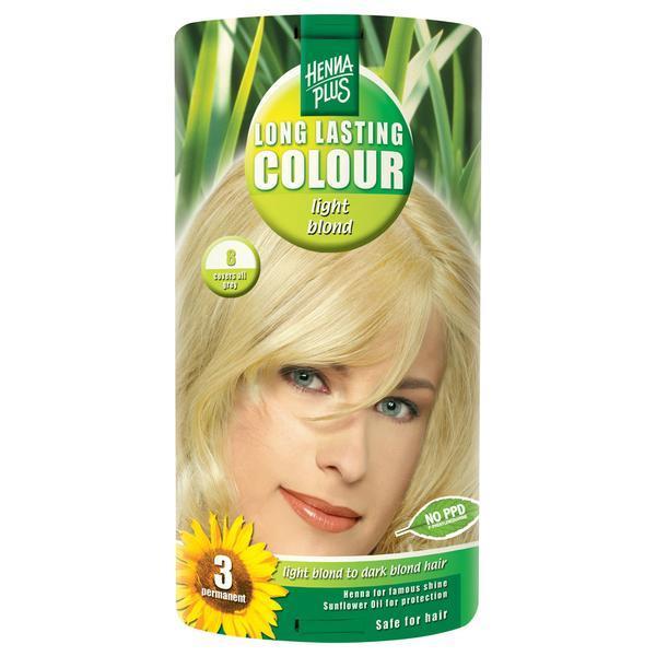 Vopsea par, Long Lasting Colour, 8 Light Blond, Hennaplus