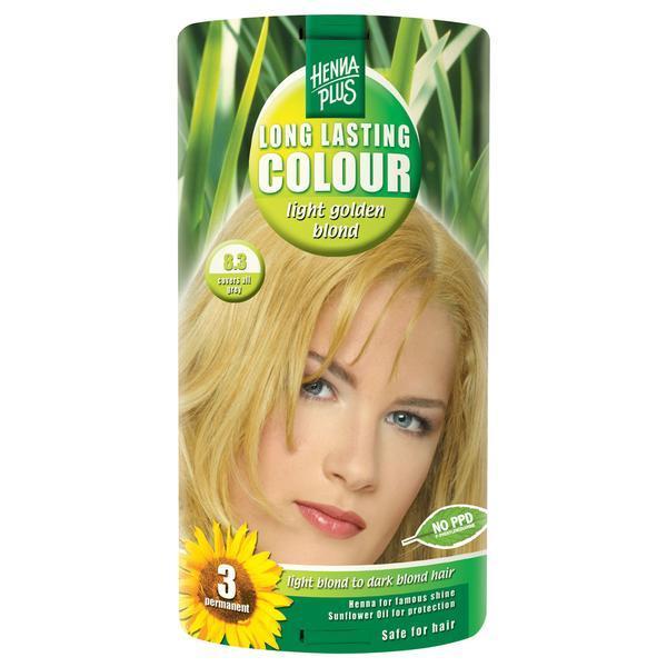 Vopsea par, Long Lasting Colour, 8.3 Light Golden Blond, Hennaplus