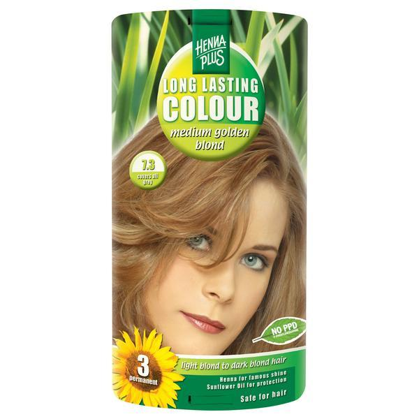 Vopsea par, Long Lasting Colour, 7.3 Medium Golden Blond, Hennaplus