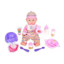 Papusa bebelus MalPlay pentru fetite cu accesorii +3 ani