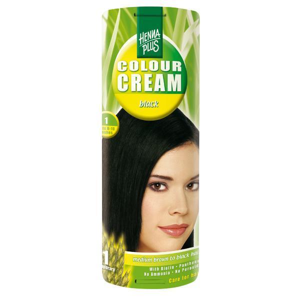 Crema nuantatoare, 1, Colour Cream Black, Hennaplus, 60 ml imagine produs