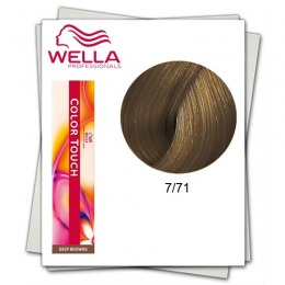 Vopsea fara Amoniac - Wella Professionals Color Touch nuanta 7/71 blond mediu castaniu cenusiu
