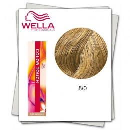 Vopsea fara Amoniac - Wella Professionals Color Touch nuanta 8/0 blond deschis