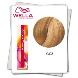 Vopsea fara Amoniac - Wella Professionals Color Touch nuanta 9/03 blond luminos natural auriu