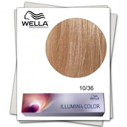 Vopsea Permanenta - Wella Professionals Illumina Color Nuanta 10/36 blond luminos deschis auriu violet