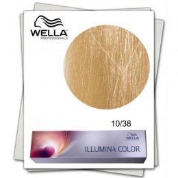 Vopsea Permanenta - Wella Professionals Illumina Color Nuanta 10/38 blond luminos deschis auriu albastru