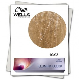 Vopsea Permanenta - Wella Professionals Illumina Color Nuanta 10/93 blond luminos deschis perlat auriu