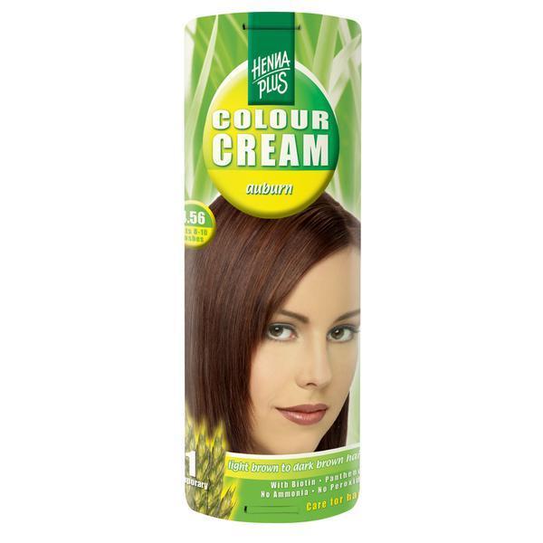 Crema nuantatoare, 4.56, Colour Cream Auburn, Hennaplus, 60 ml imagine produs