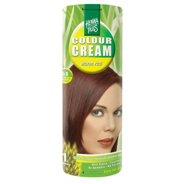 Crema nuantatoare, 5.6, Colour Cream Warm Red, Hennaplus, 60 ml imagine produs