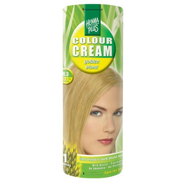 Crema nuantatoare, 8.3, Colour Cream Golden Blond, Hennaplus, 60 ml imagine produs
