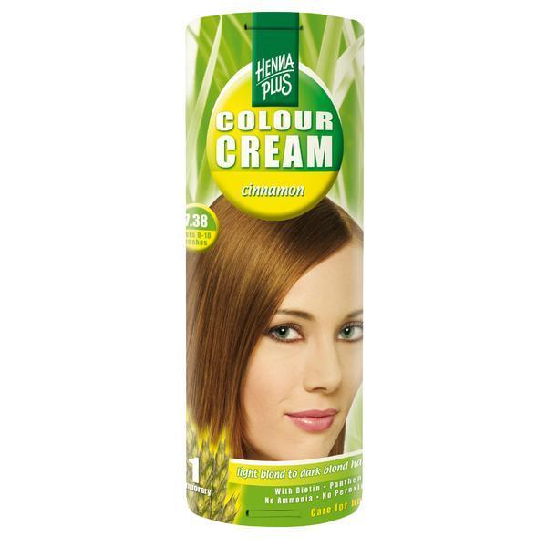Crema nuantatoare, 7.38, Colour Cream Cinnamon, Hennaplus, 60 ml