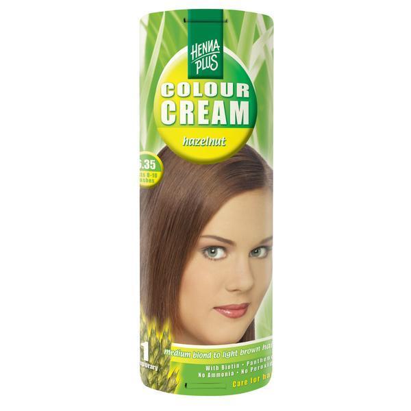 Crema nuantatoare, 6.35, Colour Cream Hazelnut, Hennaplus, 60 ml imagine produs
