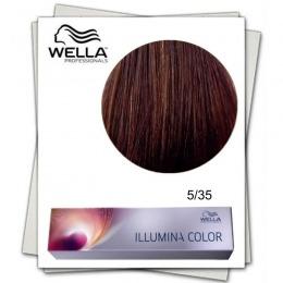 Vopsea Permanenta - Wella Professionals Illumina Color Nuanta 5/35 castaniu deschis auriu mahon