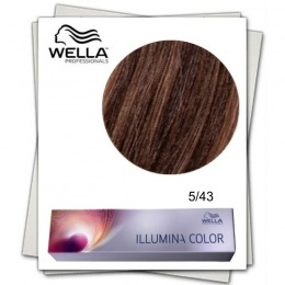 Vopsea Permanenta - Wella Professionals Illumina Color Nuanta 5/43 castaniu deschis rosu auriu
