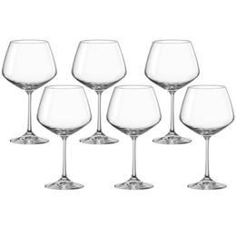 Pahar pentru vin set 6 buc Bohemia Cristal Giselle Raki 580ml