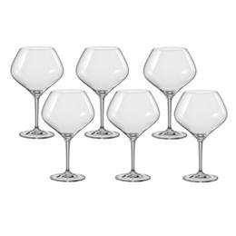 Pahar Bohemia Cristal Amoroso Raki vin rosu set 6 buc 470ml