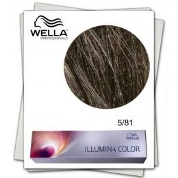 Vopsea Permanenta - Wella Professionals Illumina Color Nuanta 5/81 castaniu deschis albastru cenusiu