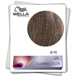 Vopsea Permanenta - Wella Professionals Illumina Color Nuanta 6/16 blond inchis cenusiu violet