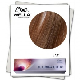 Vopsea Permanenta - Wella Professionals Illumina Color Nuanta 7/31 blond mediu auriu cenusiu
