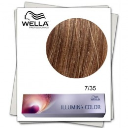 Vopsea Permanenta - Wella Professionals Illumina Color Nuanta 7/35 blond mediu auriu mahon