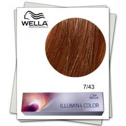 Vopsea Permanenta - Wella Professionals Illumina Color Nuanta 7/43 blond mediu rosu auriu