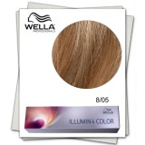 Vopsea Permanenta - Wella Professionals Illumina Color Nuanta 8/05 blond deschis natural mahon