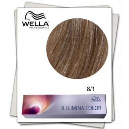 Vopsea Permanenta - Wella Professionals Illumina Color Nuanta 8/1 blond deschis cenusiu