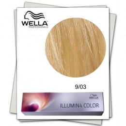 Vopsea Permanenta - Wella Professionals Illumina Color Nuanta 9/03 blond luminos natural auriu