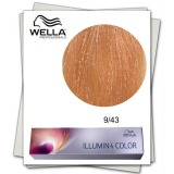 Vopsea Permanenta - Wella Professionals Illumina Color Nuanta 9/43 blond luminos aramiu auriu