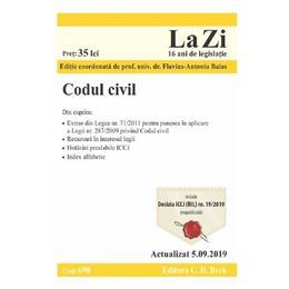 Codul civil. Actualizat 5.09.2019, editura C.h. Beck