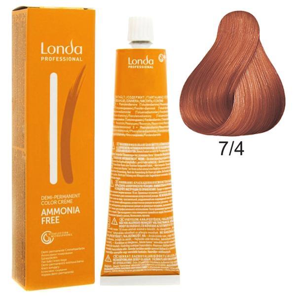 Vopsea Fara Amoniac - Londa Professional nuanta 7/4 blond mediu aramiu imagine