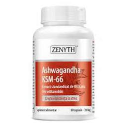 Asthwagandha KSM-66 300 MG Zenyth Pharmaceuticals, 60 capsule