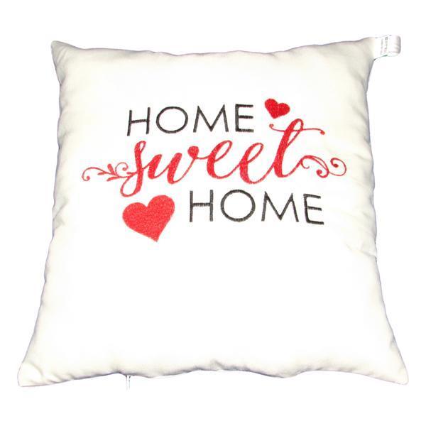 Perna decorativa Home Sweet Home, alb, 40 x 40 cm